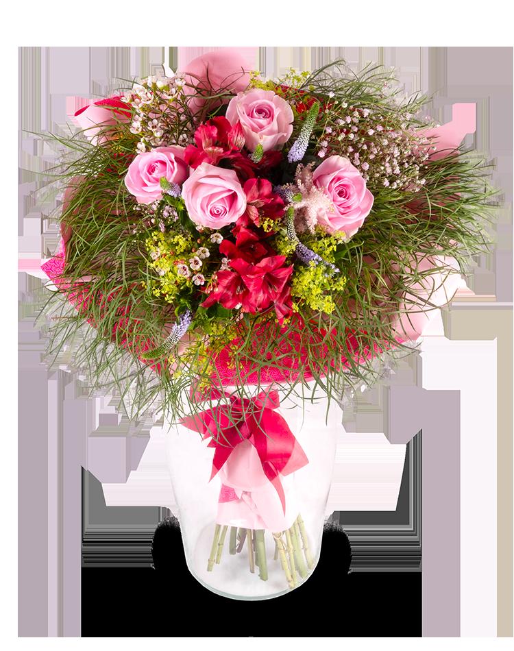 Mix květin LILA - rozvoz, dárek