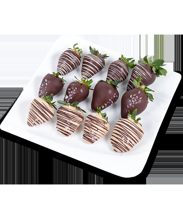 Jahodovy v čokoládě se solí - rozvoz, dárek