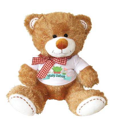 Hnědý medvídek v tričku se žabkou - rozvoz, dárek