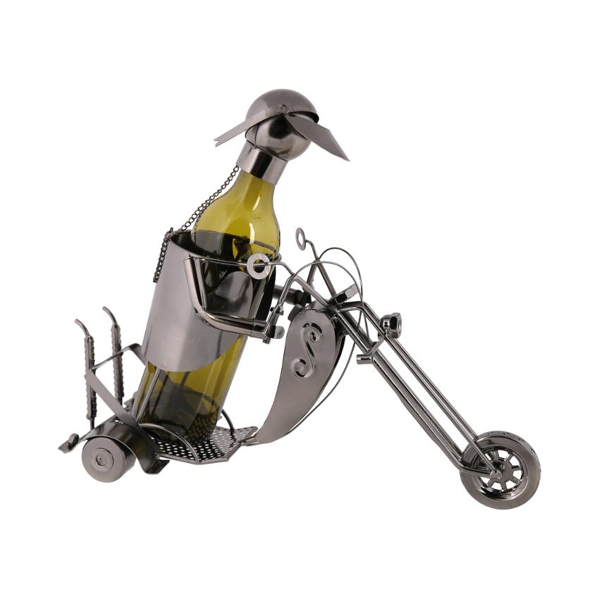 Plechový stojan Motorkář - rozvoz, dárek
