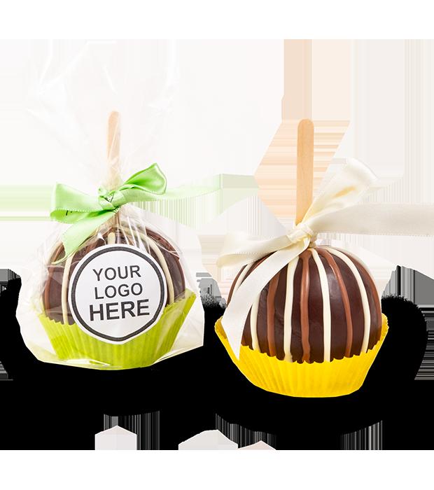 Jablko v karamelu s logem - rozvoz, dárek